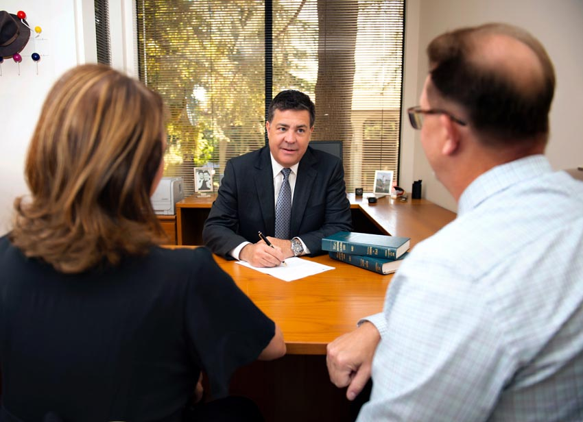 sacramento divorce attorney Marc Hughes meeting with clients